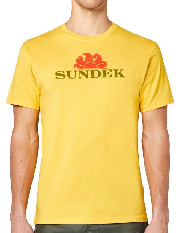 Da Hobby Sport Sundek-T-Shirt Giallo