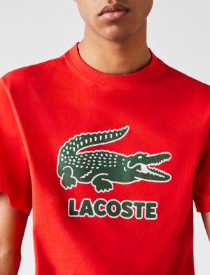 Da Hobby Sport LaCoste T-shirt TH-0063 Rosso