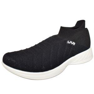 Da Hobby Sport Roma scarpa calzino UYN nera e suola bianca