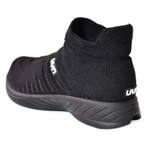 Da Hobby Sport Roma scarpa calzino uomo UYN nera con suola nera