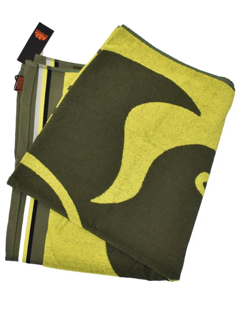 Da Hobby Sport Telo mare Sundek in morbida spugna di cotone, lavorazione jacquard - Verde